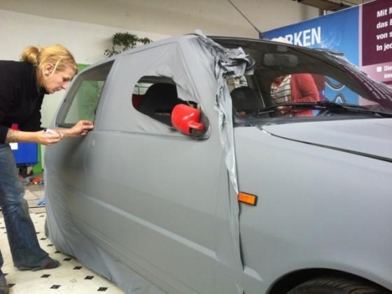 Fiat Uno 1.5 75 MK1 Folie matt grau